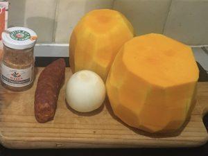 Ingrédients pour la base de butternut