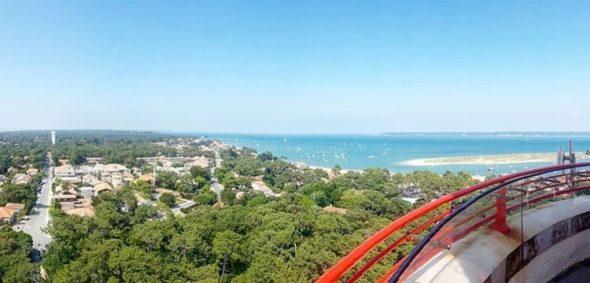 vue au sommet du phare cap ferret