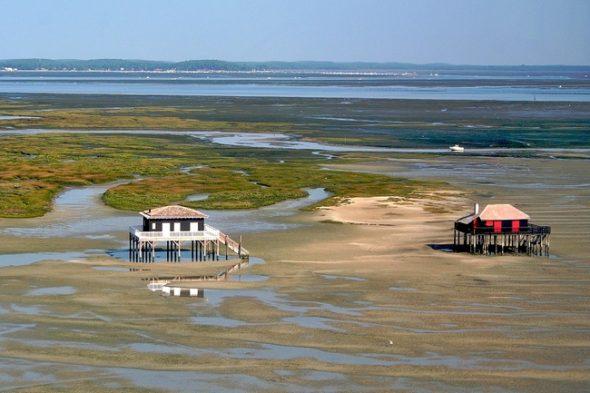 cabanes tchanquées île aux oiseaux