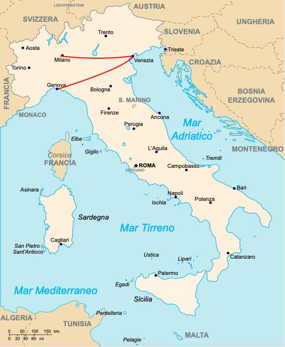 Itinéraire Italie