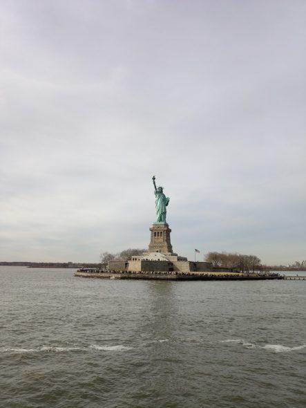Statue de la liberté du bateau