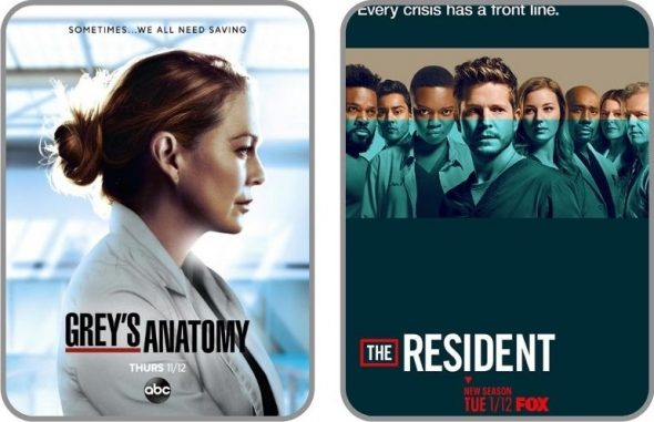 Poster officiel des séries Grey's Anatomy & The Resident