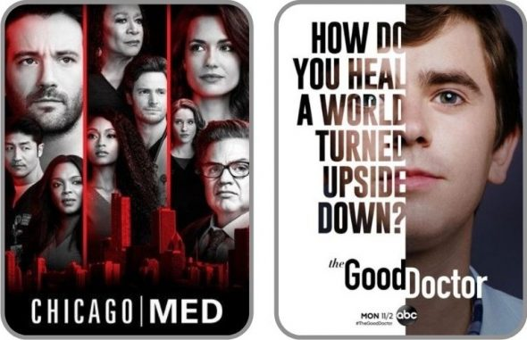 Posters des séries Chicago Med & The Good Doctor