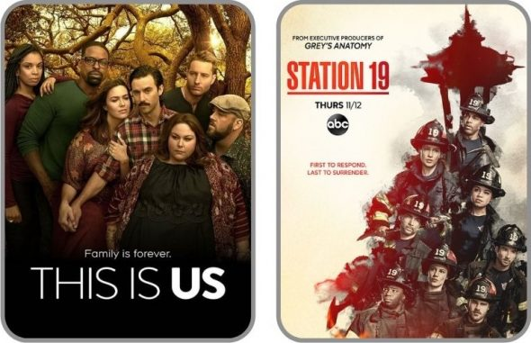 Posters des séries This is us & Station 19