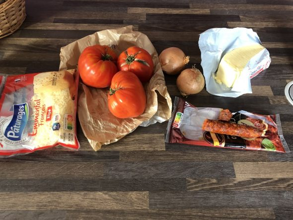Ingrédients garniture tarte à la tomate