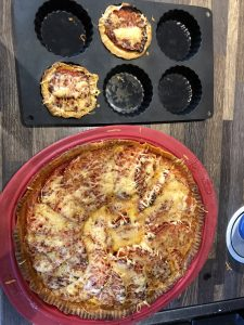 Tarte à la tomate et tartelette à la tomate