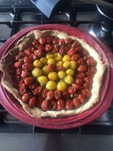 Tarte aux tomates cerise et au thon