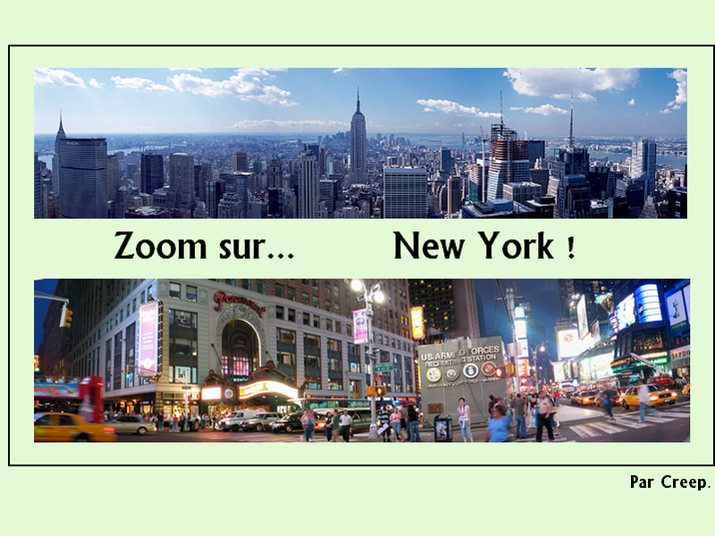 Zoom sur New York
