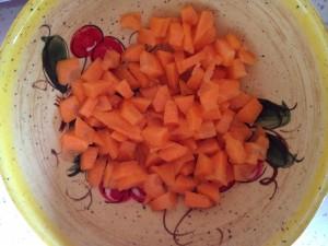 carottes coupées