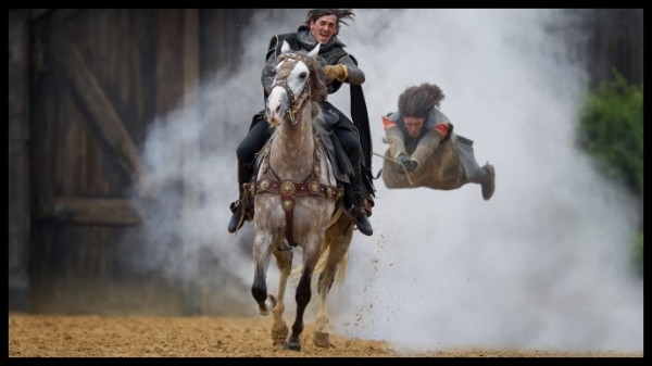 Trainade réalisée par Jean-Marie (à cheval) et Romain