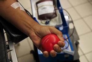 Personne donnant son sang