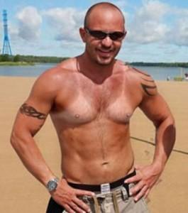 Séléction bronzage d'homme de l'été