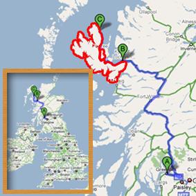 Situation géographie de l'île de Skye
