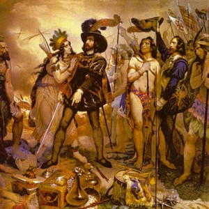 Cortes et les indiens