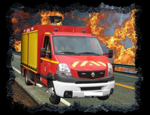 Véhicule de pompier Français
