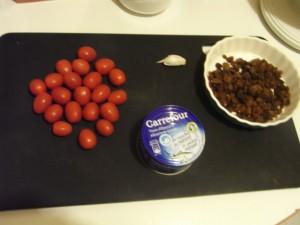 Ingrédients sauce au thon