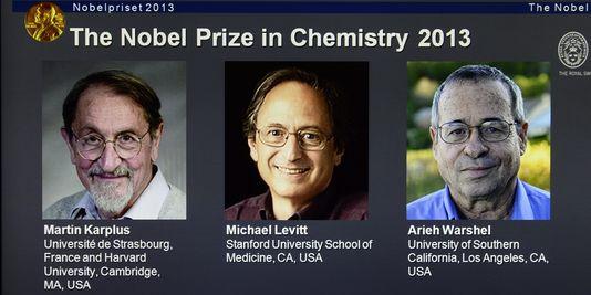 Martin Karplus, Michael Levitt et Arieh Warshel.