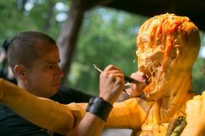 Halloween : sculpture sur citrouille