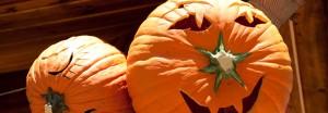 Sculpture sur citrouilles de Halloween : visage enfantin