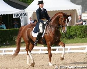 Catherine Henriquet et son cheval