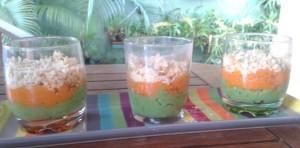 Verrine purée de carotte et brocoli