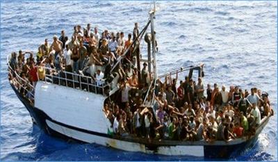 Bateau utilisé par les immigrés