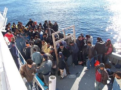 Sauvetage en mer d'immigrés naufragés