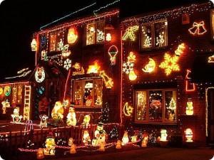Maison très décorée pour Noël