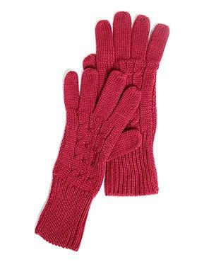 aria gants tricot torsadés chez etam