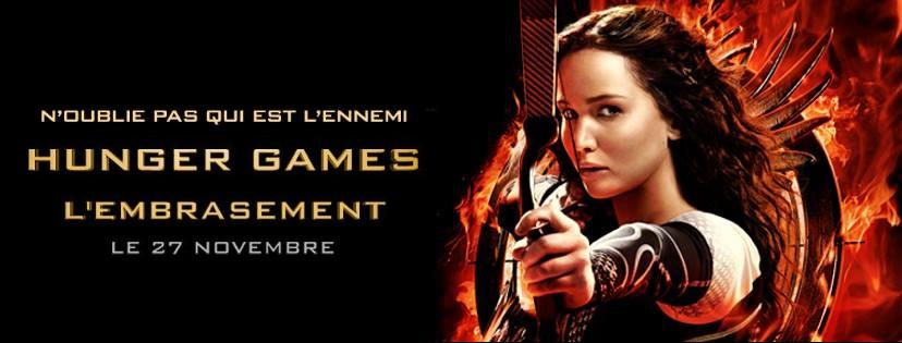 Bannière du film Hunger Games l'Embrasement