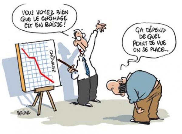 Image humoristique sur la baisse un chômage