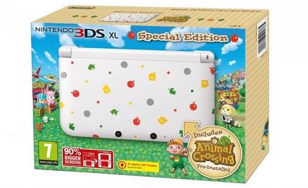 3DS aux couleurs du jeu Animal Crossing sur 3DS