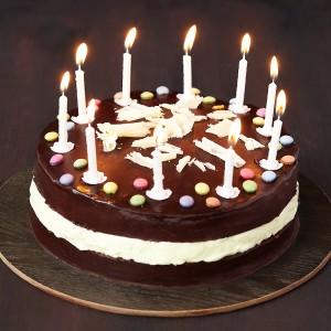 Un beau gâteau pour les sélections d'anniversaires