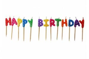"""Bougies """"Happy Birthday"""" pour les sélections d'anniversaires"""