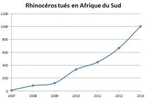 Braconnage rhinocéros chiffre