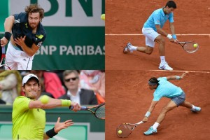 Gulbis Djokovic Murray Nadal Roland Garros 2014