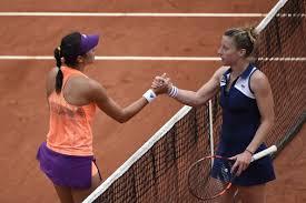 Pauline Parmentier Garbine Muguruza Roland Garros 2014