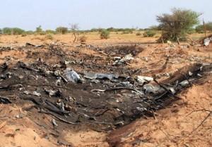 Debris de l'avion Air Algérie