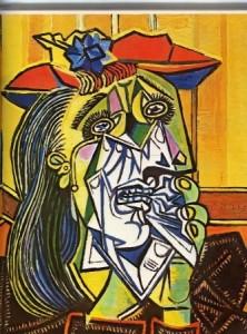 peinture femme qui pleure