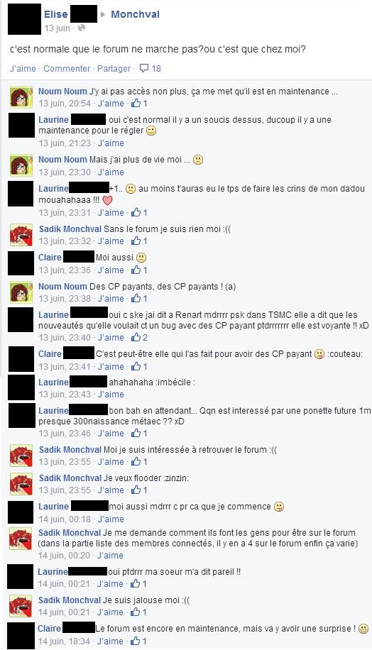 Flood sur Facebook