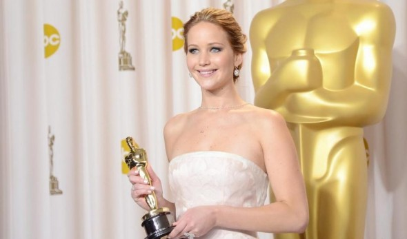Jennifer Lawrence à la cérémonie des Oscars 2013