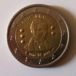 Pièces 2€ commémorative Braille