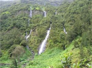Une cascade à Salazie