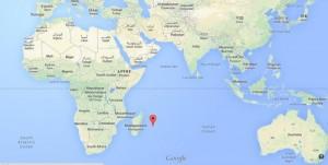 L'île de la Réunion sur un atlas