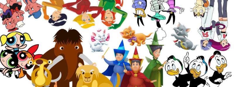 Les trios célèbres des dessins animés