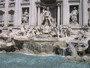 La fontaine de Trévi