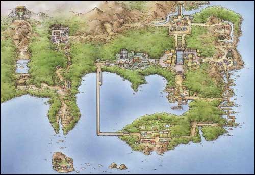 Carte de la région de Kanto