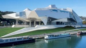 vue musée des confluences