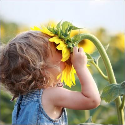 Les fleurs et les enfants