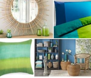 Tendance bleu et vert